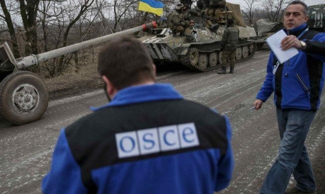 ОБСЕ: Отвод тяжелых вооружений на Донбассе не завершен