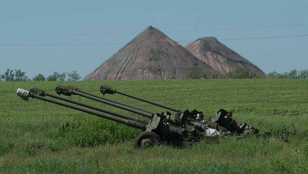 В Донецкой области силы АТО начали отвод артиллерии менее 100 мм