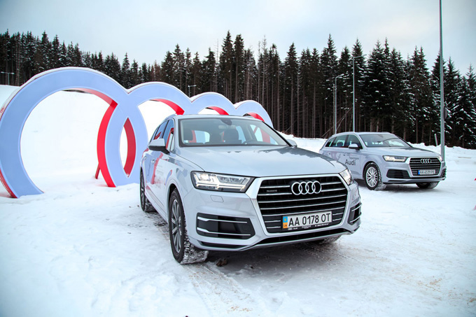 Audi Q7 покорил «территорию quattro» в Буковеле!