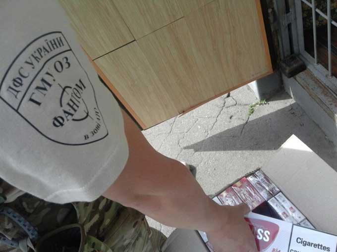 В Мариуполе изъята очередная партия сигарет без марок акцизного налога