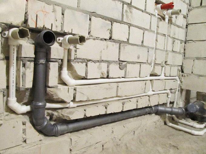 Монтаж водопровода в ванной своими руками
