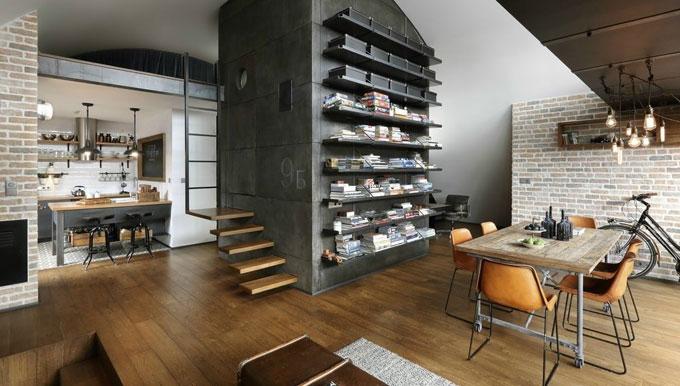 В стиле лофт: 3 заимствования для комфорта в тесной квартире