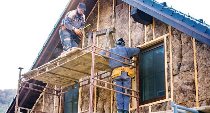 Материалы для наружного утепления деревянного дома: минеральная вата
