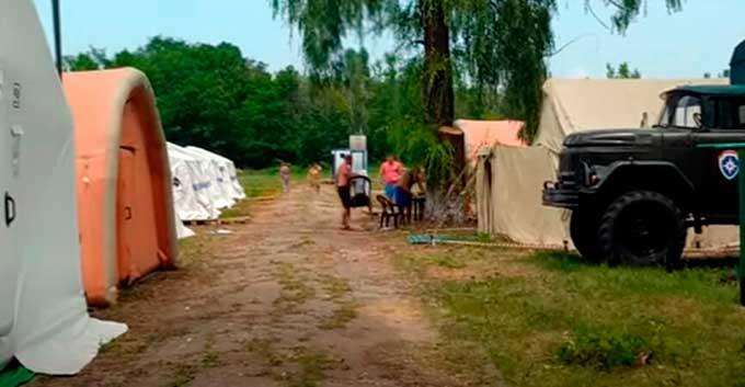 В ДНР рассказали о людях, которые живут в палатках на обсервации