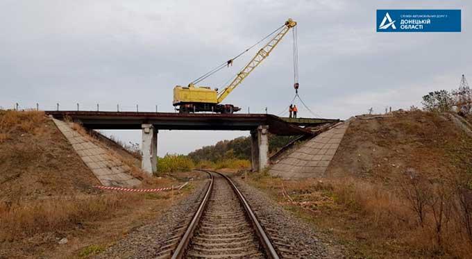 В Донецкой области решили восстановить крупный путепровод разрушенный в 2014 году